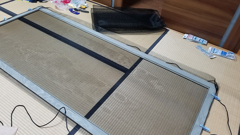 DIYで網戸の張替え: 輝け!セカンドライフ。つー君の気まま日記